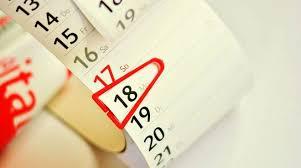 Calendario 4/8 ottobre 2021